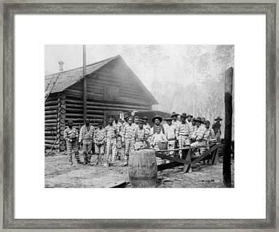 Chain Gang, C1898 Framed Print by Granger