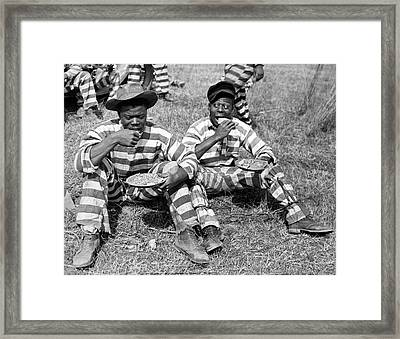 Chain Gang Lunch Time Framed Print by Underwood Archives