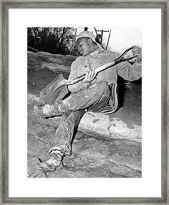 Chain Gang Prisoner Framed Print by Underwood Archives