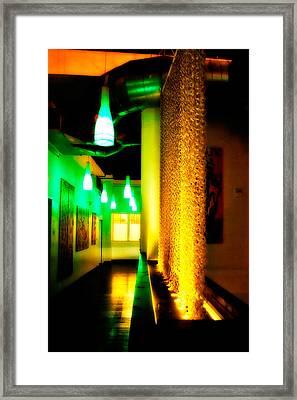 Chain Lighting Framed Print by Melinda Ledsome