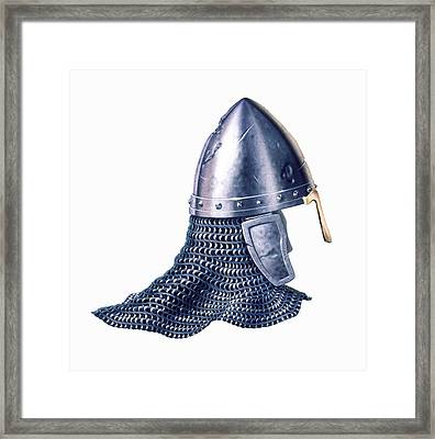 Chain Mail And Helmet Framed Print