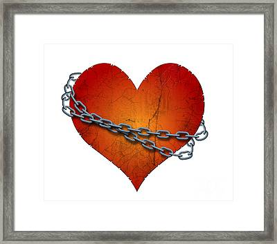 Chained Heart Framed Print by Michal Boubin