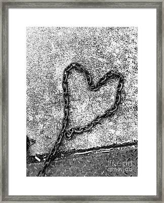 Chained Heart Framed Print