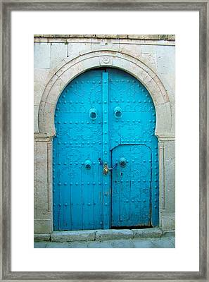 Chained Mini Door Framed Print