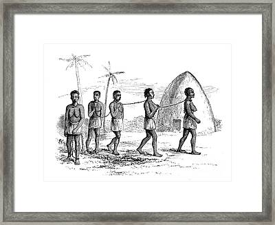 Chained Slaves, C. 19th Century Framed Print by British Library