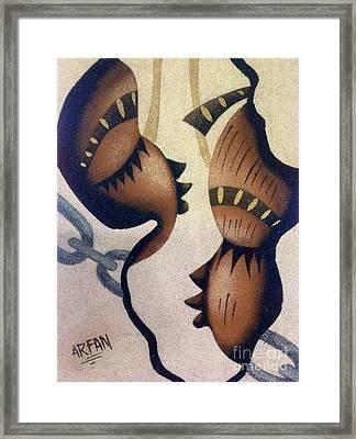 Chains Framed Print by Fania Simon