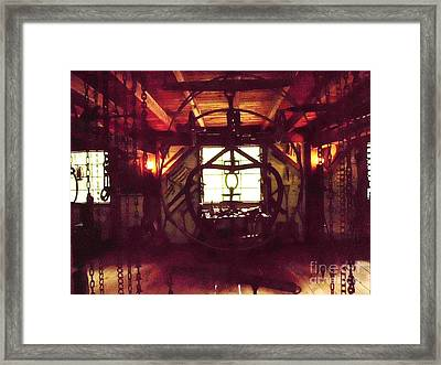 Chains Framed Print by James Dolan