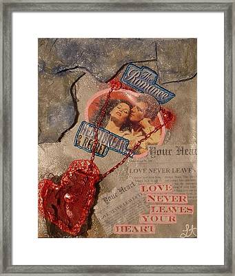 Framed Print featuring the painting Chains Of Love by Lisa Piper