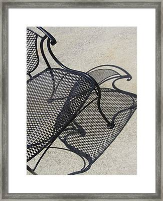 Chair And Shadow 4 Framed Print by Anita Burgermeister