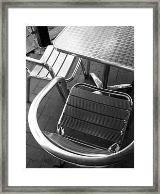 Chair And Table Framed Print by Joe Kozlowski