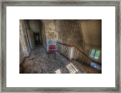 Chair At The Top Framed Print by Nathan Wright