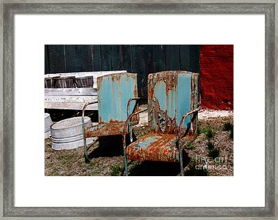 Chair Blossoms  Framed Print by Steven Digman