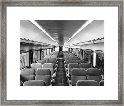 Chair Car On Denver Zephyr Framed Print by Underwood Archives