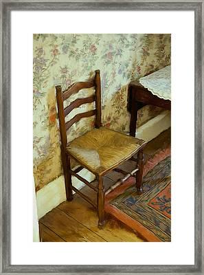 Chair Framed Print by Ian Merton