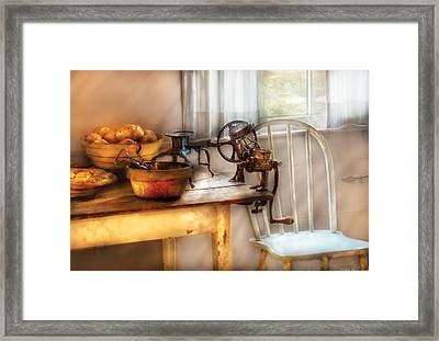 Chair - Kitchen Preparations  Framed Print by Mike Savad