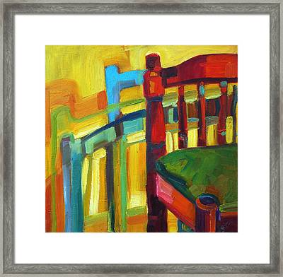 Chair Framed Print by Magdalena Mirowicz