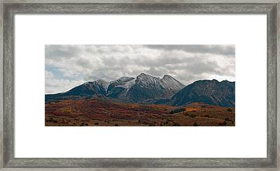 Framed Print featuring the photograph Chair Mountain  by Eric Rundle