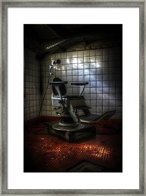 Chair Of Horror Framed Print by Nathan Wright