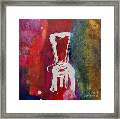 Framed Print featuring the painting Chair by Robin Maria Pedrero