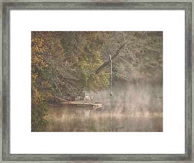 Chairs In The Mist Framed Print by Michael Thomas