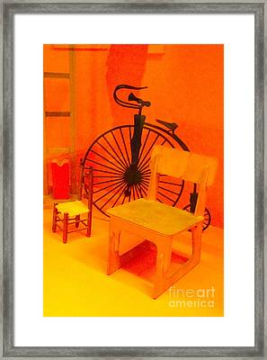 Chairs Spoke Framed Print by Cathy Dee Janes