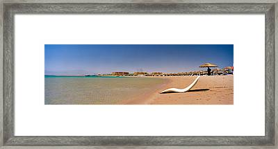 Chaise Longue On The Beach, Soma Bay Framed Print by Panoramic Images