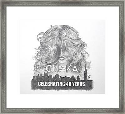 Chaka 40 Years Framed Print
