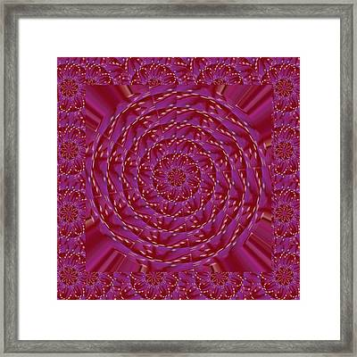 Chakra Decoration Created Out Of  Luxurious Rose Petals And Pistils Of Cactus Gold Flower  Enjoy And Framed Print