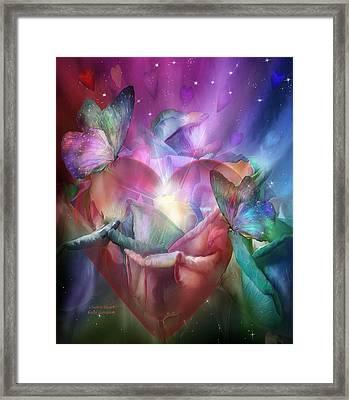 Chakra Heart Framed Print by Carol Cavalaris