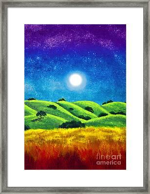 Chakra Landscape Framed Print
