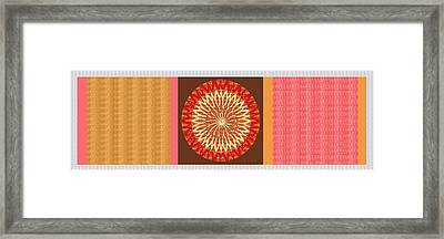 Chakra Mandala With Crystal Stone Healing Energy Plates By Side  Navinjoshi Rights Managed Images Fo Framed Print by Navin Joshi