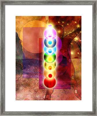 Chakra Mystery Framed Print by Bruce Manaka