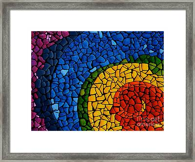 Framed Print featuring the painting Chakra Swirl by Deborha Kerr