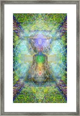 Chakra Tree Anatomy In Chalice Garden Framed Print