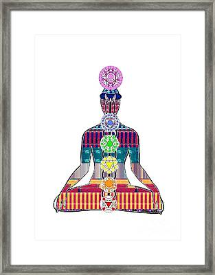 Chakra Yoga Mandala  Buy Faa Print Products Or Down Load For Self Printing Navin Joshi Rights Manage Framed Print
