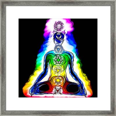 Chakras At Work Framed Print by Mary Burr