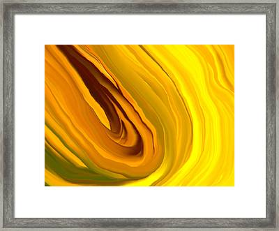 Chakra_yellow Framed Print by Linnea Tober