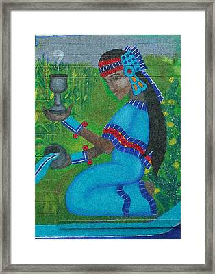 Chalchiuhtlicue Framed Print by Jane Madrigal