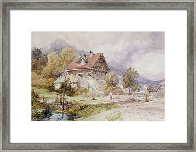 Chalet, Brunnen, Lake Lucerne Framed Print