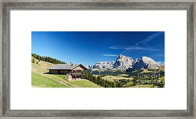 Framed Print featuring the photograph Chalet In South Tyrol by Carsten Reisinger