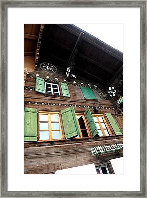 Chalet Windows Framed Print by Stephen Richards