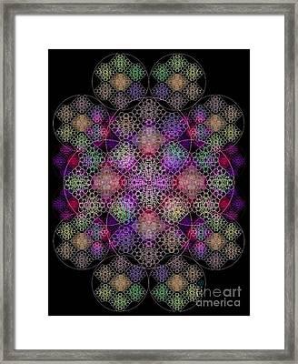 Chalice Cell Rings On Black Dk29 Framed Print