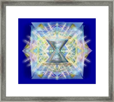 Chalicell Matrix Rainbow Cross Of Light Framed Print