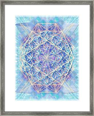 Chalicell Torq And Blue Vortex F O L Octagon Framed Print