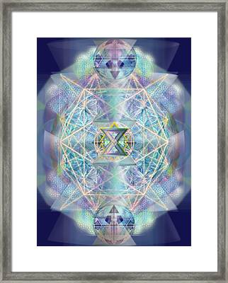Chalicells Electric Sparkling Vortices Of Light II Framed Print