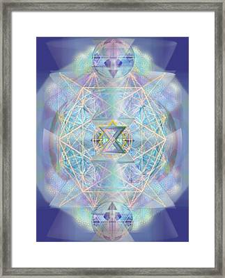 Chalicells Electro Dynamic Vortices Of Light Framed Print