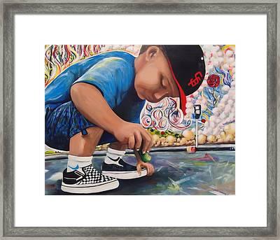 Chalk Art Creations Framed Print by Randy Segura