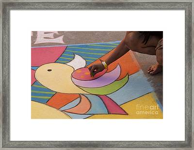 Chalk Artist Framed Print by Juli Scalzi