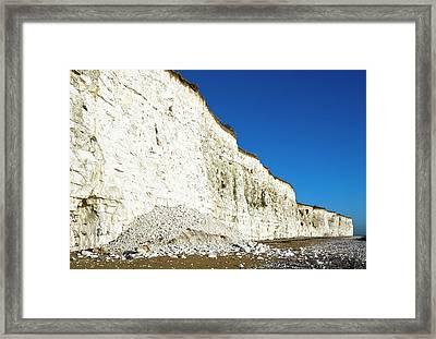 Chalk Cliffs Framed Print by Carlos Dominguez