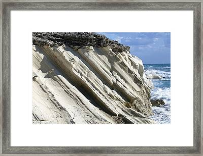 Chalk Cliffs, Cyprus Framed Print by Science Photo Library